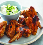 Sticky Barbeque Chicken Wings